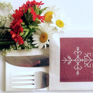 Personalized napkin for cutlery hold