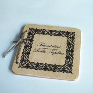 Personalized wooden coaster for mug
